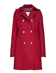MADISON COAT - BEET RED