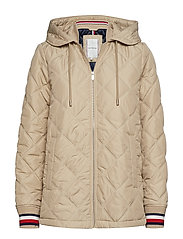 IVAN QUILTED JACKET - MEDIUM TAUPE