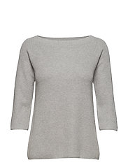 ABBIE OFF SHOULDER S - LIGHT GREY HTR