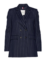 FRANKIE DB BLAZER - PIN STRIPE SKY CAPTAIN