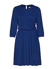 BARBARA WRAP DRESS LS - BLUE DEPTHS