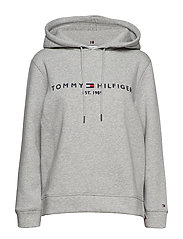 TH ESS HILFIGER HOODIE LS - LIGHT GREY HEATHER