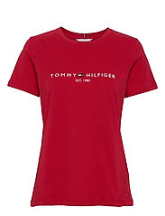NEW TH ESS HILFIGER C-NK TEE SS - PRIMARY RED