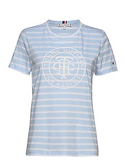 TH COOL ESS RELAXED GRAPHIC TEE - BRETON STP / BREEZY BLUE WHITE
