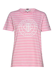 TH COOL ESS RELAXED GRAPHIC TEE - BRETON STP /  FROSTED PINK