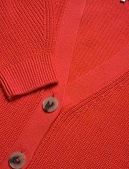 Tommy Hilfiger - HAYANA V-NK CARDI - cardigans - bright vermillion - 3