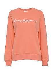 ANNIE RELAXED C-NK SWEATSHIRT LS - ISLAND CORAL