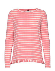 TANJA RELAXED BOAT-N - BRETON STP / PINK GR. - PALE P