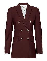 ICON WOOL DB BLAZER - DEEP BURGUNDY