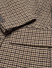 Tommy Hilfiger - DB WOOL BLEND PATTERN COAT - wool coats - amelie blazer chk large beige - 3
