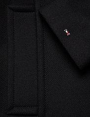 Tommy Hilfiger - WOOL BLEND FUNNEL COAT - wool coats - black - 4