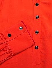 Tommy Hilfiger - ALLYN POP OVER LS BLOUSE - long sleeved blouses - oxidized orange - 2