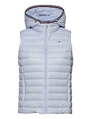 TH ESS LW DOWN VEST - BREEZY BLUE