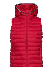 TH ESS LW DOWN VEST - PRIMARY RED