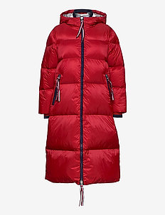 ICON OVERSIZED DOWN COAT - gewatteerde jassen - true red