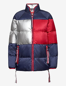 ICON SHORT DOWN COAT - down- & padded jackets - peacoat / multi