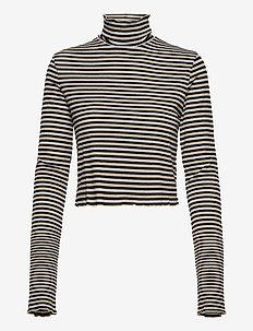 LUREX POLO NECK TOP LS - navel shirts - meteorite / multi