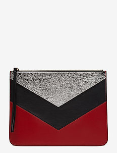CHEVRON TOMMY POUCH - clutches - peacoat / multi