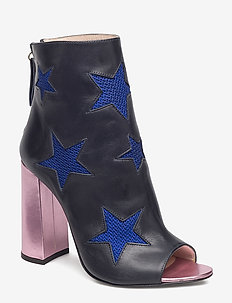 MESH STAR ANKLE BOOT - heeled ankle boots - medieval blue / multi