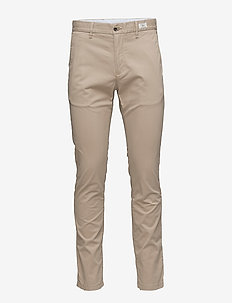 CORE DENTON STRAIGHT CHINO - pantalons décontractés - batique khaki