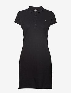 NEW CHIARA STR PQ POLO DRESS SS - BLACK BEAUTY
