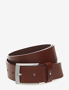 ADAN LEATHER BELT 3. - DARK TAN