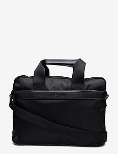 ELEVATED NYLON COMPUTER BAG - BLACK
