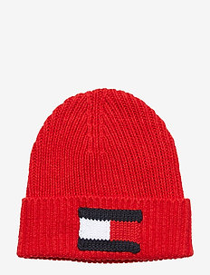 BIG FLAG BEANIE - BARBADOS CHERRY