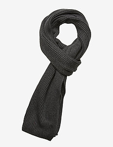 PIMA COTTON SCARF - huivit - dark grey melange