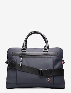 COATED CANVAS SLIM COMP BAG - SKY CAPTAIN
