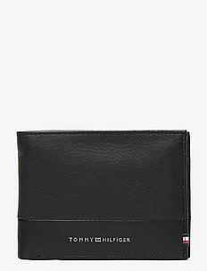 TEXTURED EXTRA CC AND COIN - wallets - black