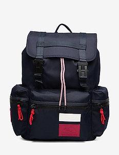 OUTDOOR NYLON FLAP BACKPACK - rygsække - corporate