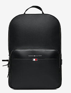 BUSINESS LEATHER BACKPACK - BLACK