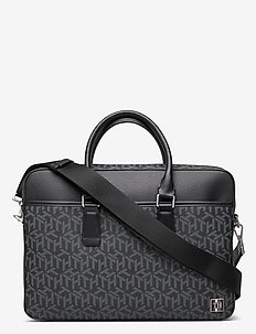 COATED CANVAS  SLIM - laptop bags - black monogram