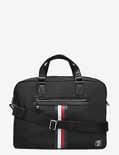 CLEAN NYLON COMPUTER - laptop bags - black
