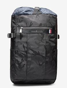 ELEVATED NYLON CAMO - plecaki - black camo