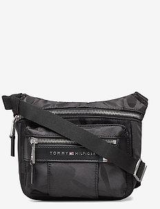ELEVATED NYLON CAMO - shoulder bags - black camo