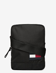 TOMMY CORE COMPACT CROSSOVER - shoulder bags - black