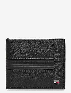 DOWNTOWN CC WALLET W. MONEY CLIP - klasyczny portfel - black