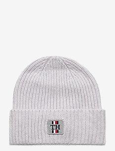 TH PLAQUE BEANIE - bonnet - light grey melange