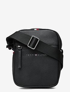 ESSENTIAL PU MINI REPORTER - shoulder bags - black
