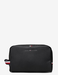 ESSENTIAL PU WASHBAG - toilettassen - black