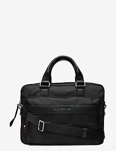 ELEVATED NYLON COMPUTER BAG - laptop bags - black