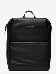 CASUAL LEATHER BACKPACK - sacs à dos - black