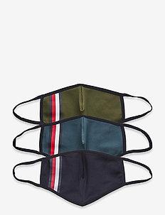 ABO MEN STRIPEF ACE COVER 3-PACK - ansiktsmasker - colorpack