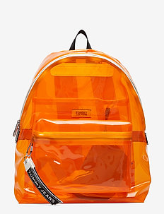 TJU LOGO TAPE BACKPACK TRAN - RADIANT YELLOW