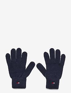 FLAG KNIT GLOVES - winter clothing - twilight navy