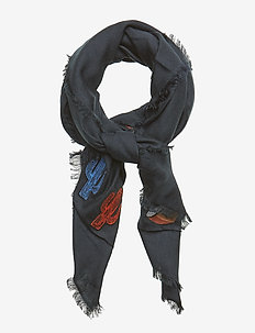 TOMMY PATCHES SCARF - scarves - tommy navy