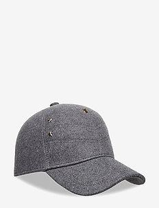 CHEVRON MASCOT CAP - caps - mid grey htr