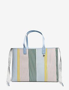 ICONIC TURNLOCK TOTE - fashion shoppers - icon stripe